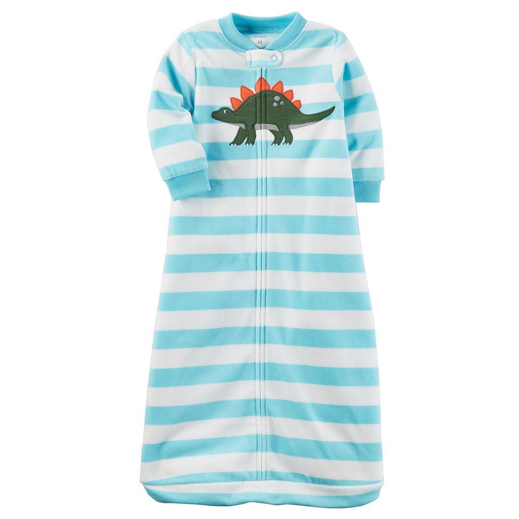 Baby Boy Carter's Dinosaur Striped Fleece Sleep Bag
