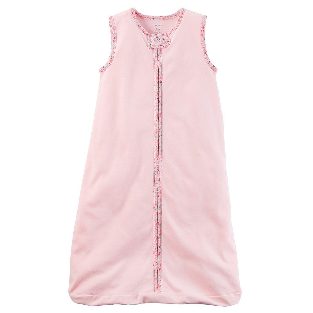 Baby Girl Carter's Floral Fleece Sleeveless Sleep Bag