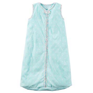 Baby Girl Carter's Polka-Dot Fleece Sleeveless Sleep Bag