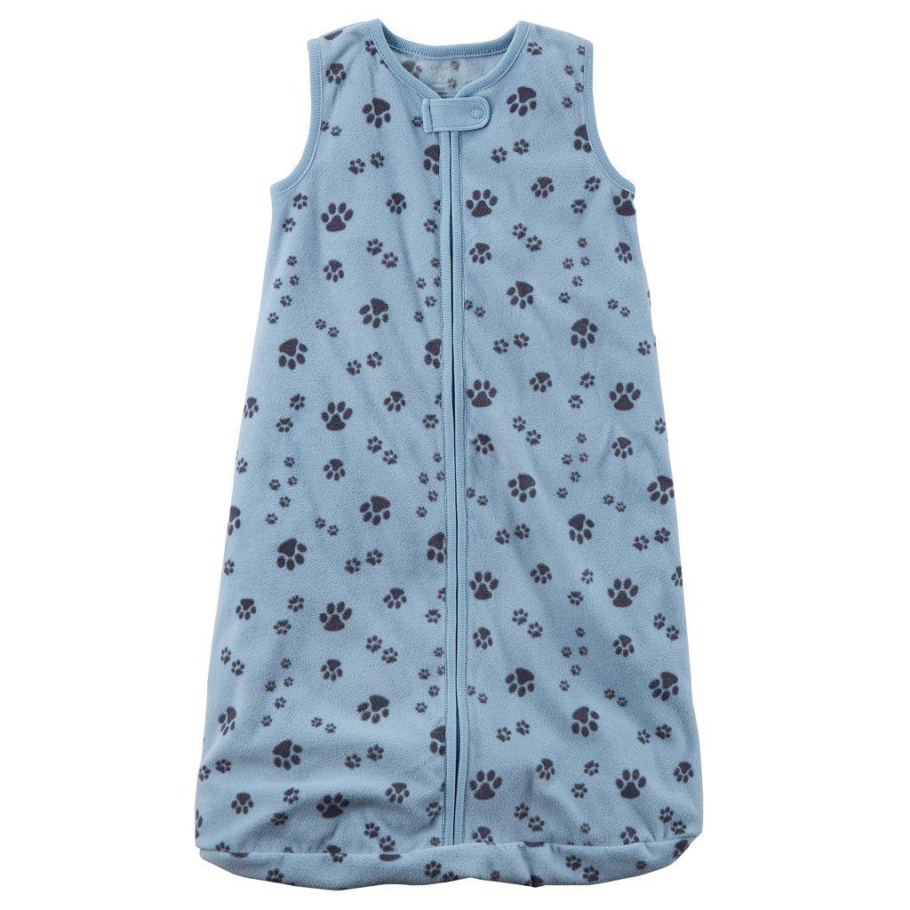 Baby Boy Carter's Paw Prints Fleece Sleeveless Sleep Bag