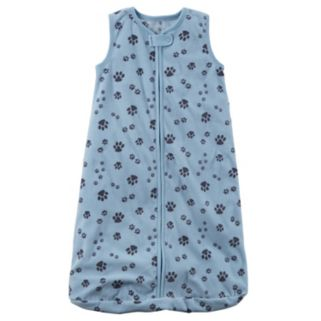 Baby Boy Carter's Paw Prints Fleece Sleeveless Sleep Bag