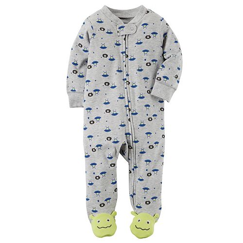 Carters Baby Boys Cotton Sleep and Play Footed Pajama 3 Months, Space Aliens
