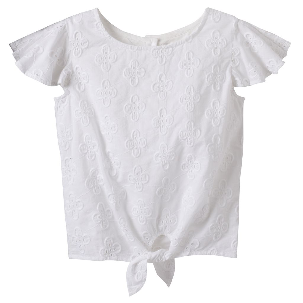 Girls 4-12 SONOMA Goods for Life™ Tie-Front Top