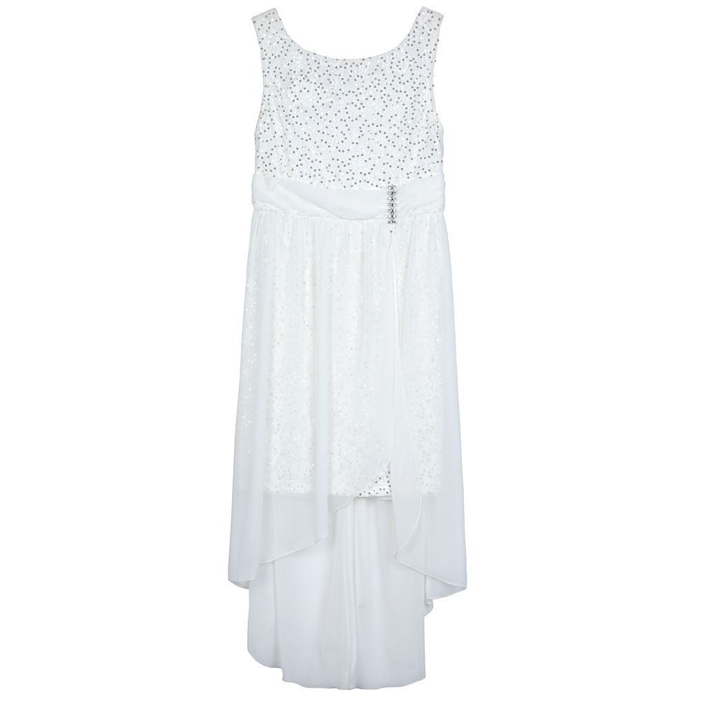 Girls 7-16 IZ Amy Byer Sequin Lace High-Low Sheath Dress