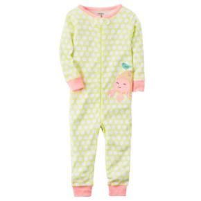Toddler Girl Carter's Print One-Piece Pajamas
