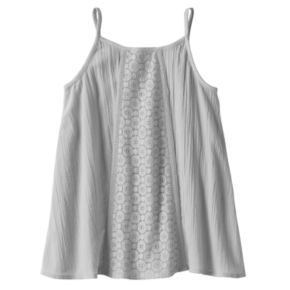 Girls 4-10 Jumping Beans® Lace Panel Tank Top