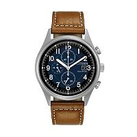 Citizen Eco-Drive Men's Chandler Leather Watch - CA0621-05L