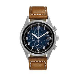 Citizen Eco-Drive Men's Chandler Leather Watch - CA0621-05L