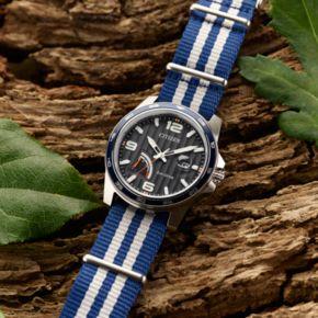 Citizen Eco-Drive Men's PRT Striped Watch - AW7038-04L