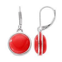 Napier Circle Cabochon Nickel Free Drop Earrings