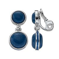 Napier Double Circle Nickel Free Clip On Drop Earrings