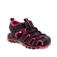 Rugged Bear Girls' Bungee Sport Sandals