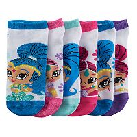 Girls 4-16 Shimmer & Shine 6-pk. No-Show Socks