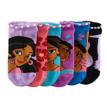 Disney's Elena of Avalor Girls 4-16 6-pk. No-Show Socks