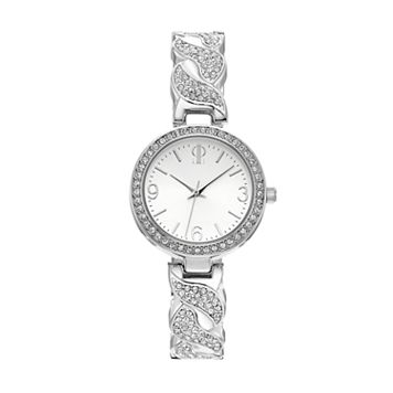 Jennifer Lopez Women's Crystal Twist Watch