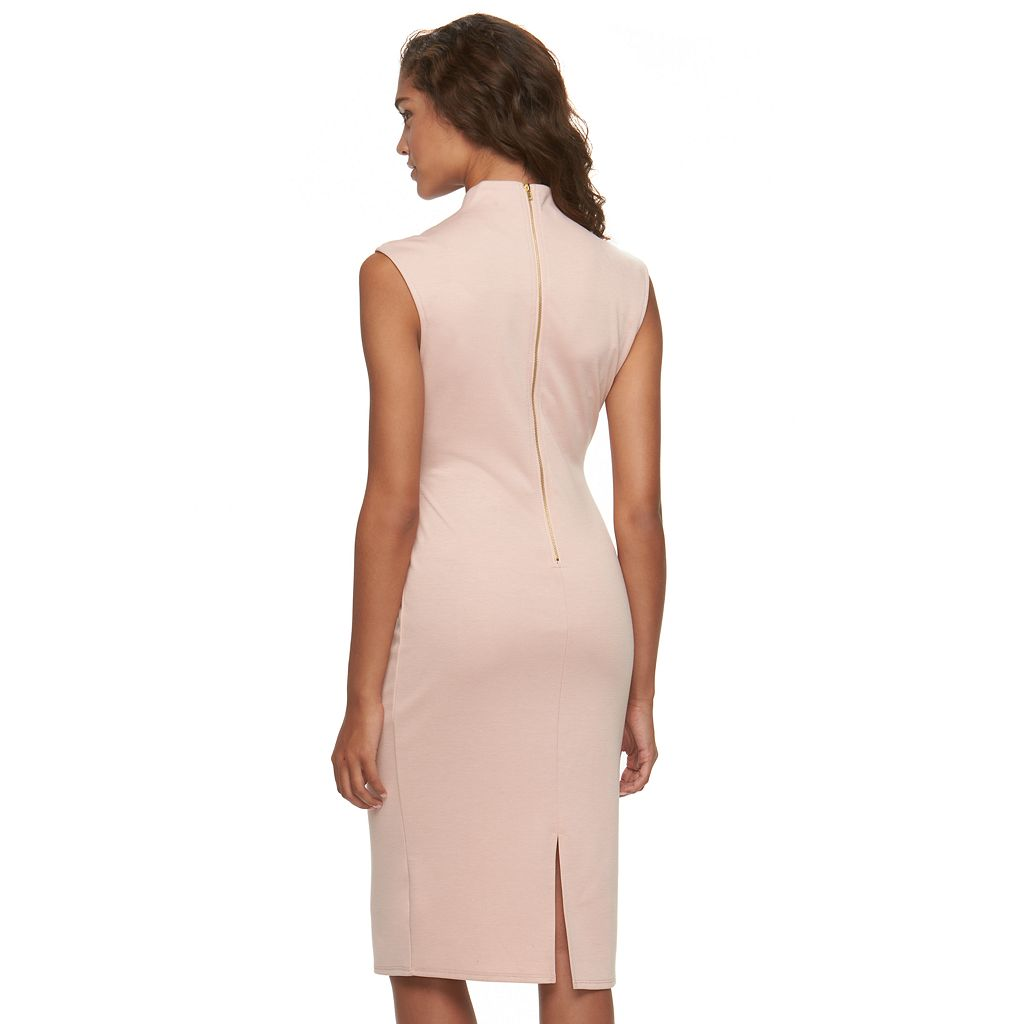 Juniors' Almost Famous Solid Bodycon Dress