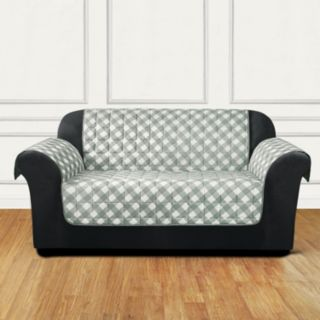 Sure Fit Furniture Flair Gingham Plaid Loveseat Slipcover