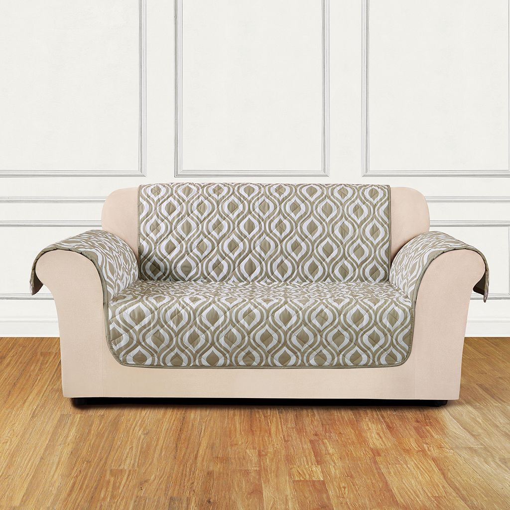 Sure Fit Furniture Flair Ogee Loveseat Slipcover