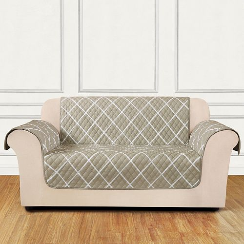 Sure Fit Furniture Flair Lattice Loveseat Slipcover