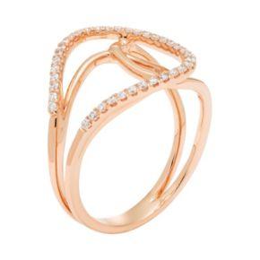 10k Gold 1/4 Carat T.W. Diamond Loop Ring