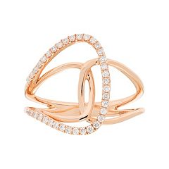 10k Gold 1/4 Carat T.W. Diamond Loop Ring