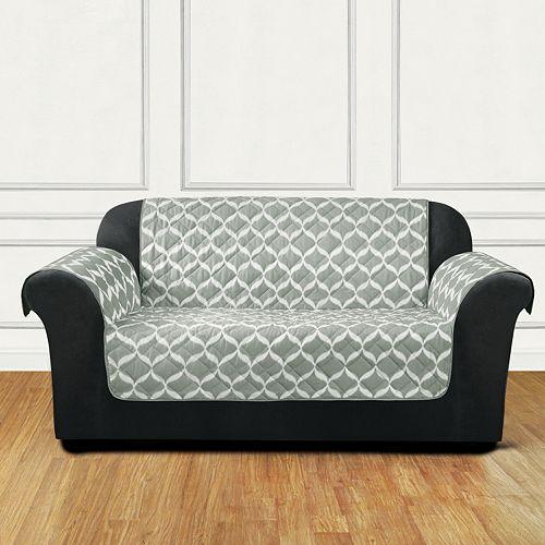 Sure Fit Furniture Flair Ikat Tile Loveseat Slipcover