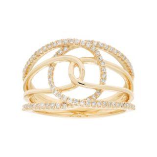 10k Gold 1/3 Carat T.W. Diamond Double Loop Ring
