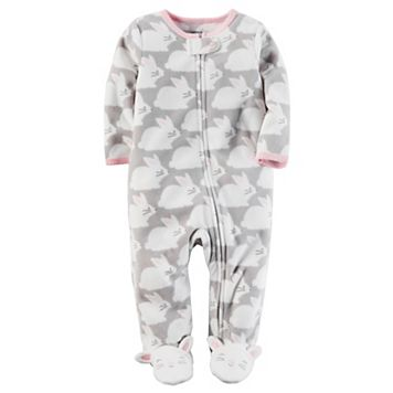 Baby Girl Carter's Bunny Microfleece Sleep & Play