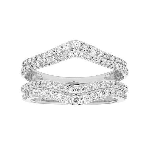 14k Gold 5/8 Carat T.W. Diamond V Enhancer Wedding Ring