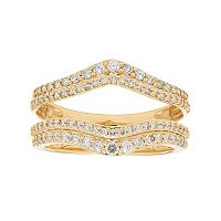 14k Gold 5/8 Carat T.W. Diamond V Enhancer Wedding Ring