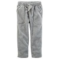 Toddler Boy Carter's Microfleece Gray Pull-On Pants