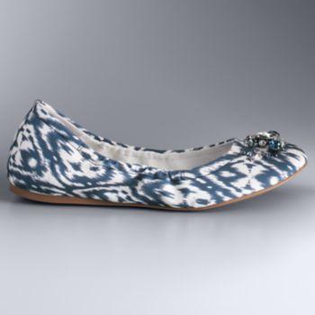 Simply Vera Vera Wang Women's Scrunch Ballet Flats