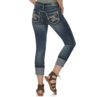 Juniors' Hydraulic Bailey Ripped Ankle Jeans