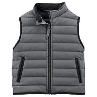 Toddler Boy Carter's Black Puffer Vest