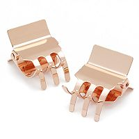 Scunci 2-pk. Rose Gold Tone Jaw Clips