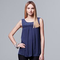 Petite Simply Vera Vera Wang Mixed-Media Tank