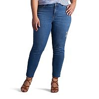 Plus Size Lee MidRise Skinny Ankle Jeans