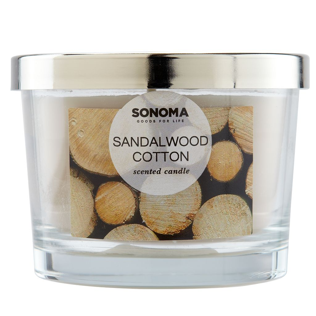 SONOMA Goods for Life™ Sandalwood Cotton 5-oz. Candle Jar