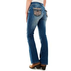 Juniors' Wallflower Luscious Curvy Bling Mid-Rise Bootcut Jeans