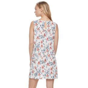 Juniors' Trixxi Floral Gauze Shift Dress