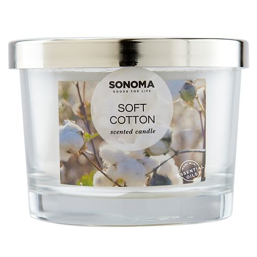 SONOMA Goods for Life™ Soft Cotton 5-oz. Candle Jar