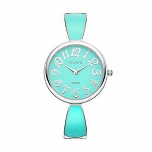 Studio Time Women's Enameled Cuff Watch