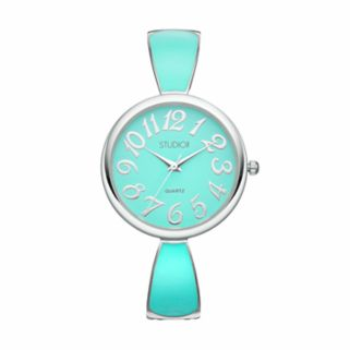 Studio Time Women's Enameled Cuff Watch
