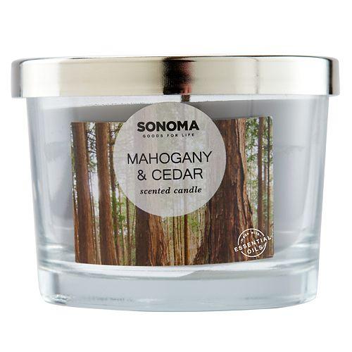 SONOMA Goods for Life™ Mahogany & Cedar 5-oz. Candle Jar