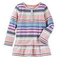Toddler Girl OshKosh B'gosh® Striped Empire Waist Henley Top