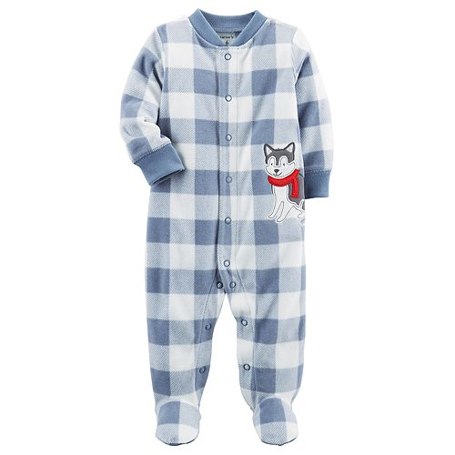 d08494f1b Baby Boy Carter's Dog One-Piece Footed Pajamas