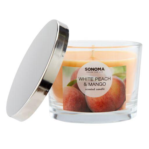 SONOMA Goods for Life™ White Peach & Mango 5-oz. Candle Jar