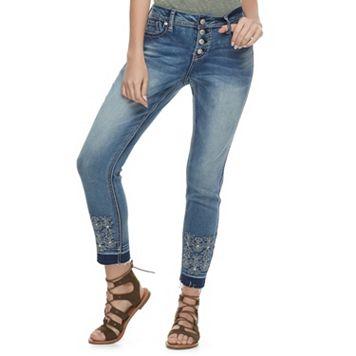 Juniors' Hydraulic Lola Release Hem Ankle Jeans