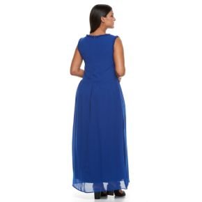 Plus Size Design 365 Ruffle-Trim Maxi Dress