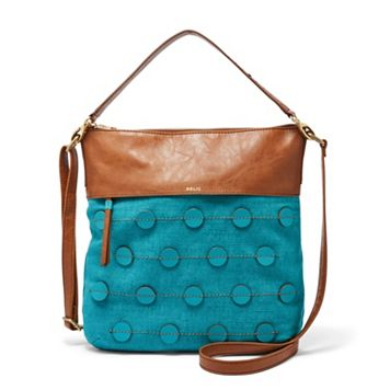Relic Sophie Blue Polka Dot Convertible Crossbody Bag